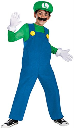 Mario and Luigi Child Costume Luigi (green & blue) - Small -
