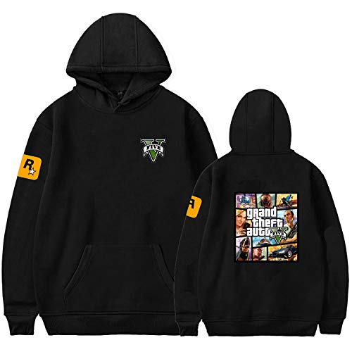 Gmoke Unisex Grand Theft Auto 5 Cosplay 3D Printed GTA Hoodies, Mans Long Sleeve Sweatshirt Costume Jacket Coat. (Style1-S). (Grand Theft Auto 5 Minecraft)