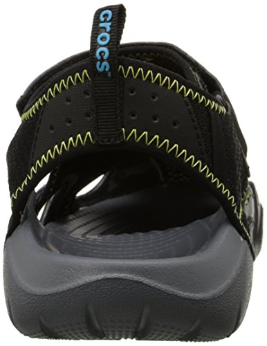M Nero Crocs Swiftwater Charcoal Uomo Sportivi Black Sandali Sandal 7xOBqOwH