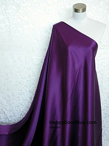 100% Pure Silk Charmeuse Fabric Purple Per Yard - Purple Silk Fabric