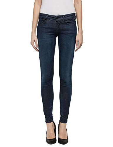 (Replay Women's Hyperflex Dark Skinny Jeans Blue in Size 23W 30L)