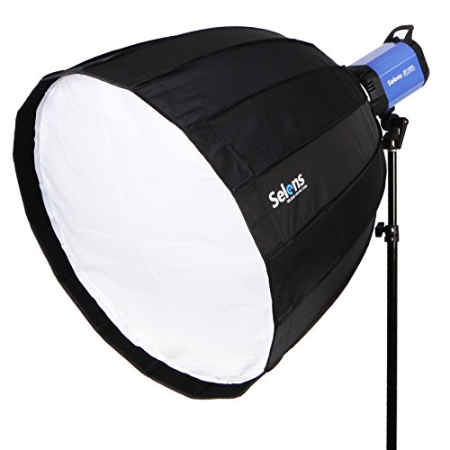 Selens Hexadecagon Softbox 36 inches / 90 Centimeters Deep Parabolic Quick Folding Umbrella Softbox Diffuser with Bowens Mount for Bowens, Studio Flash Speedlite, Interfit and Compatible Lights