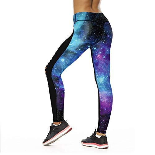 Sportivi Sky3 A Leggings Stampati Pantaloni In Galaxy Giovane Da Fashion Vita Stretch Saoye Fiori Matita Donna Elastici Yoga Twxvg6F6q