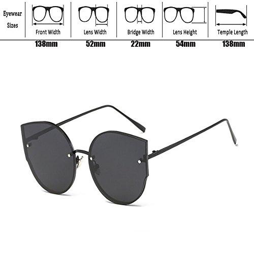 Moda Súper ligero Marco de de Clásico Gafas Xinvision Protection Metal Plateado Retro UV400 Mujer Ojos sol Blanco Gafas gato Y4wq6Z7q