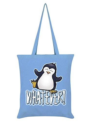 Penguin blu Borsa Psycho cielo Whatever Tote in 42 x 38 cm nT747dwx