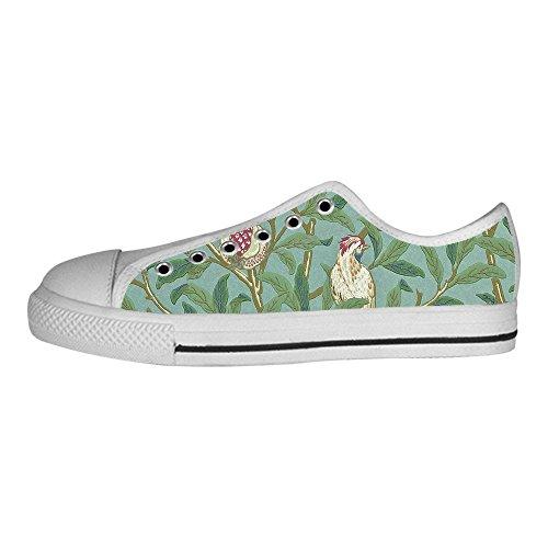 I Le Alto Custom Scarpe Tela Shoes Ginnastica Men's Lacci Da Delle Canvas In Foresta Sopra E Uccello Di w41xqO4BY