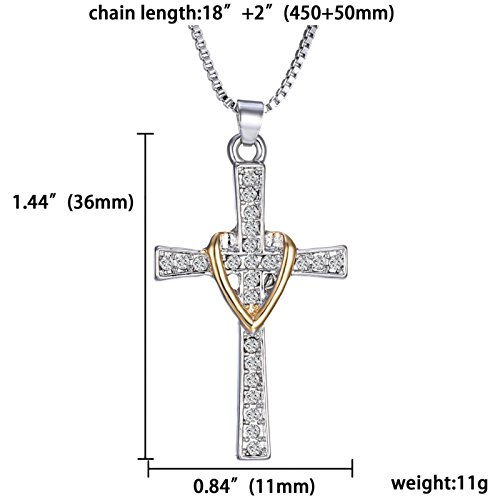 ptk12 Hot Religious Series Cross Heart Gold Silver Faith Hope Necklace Pendant Necklaces Jewelry by ptk12