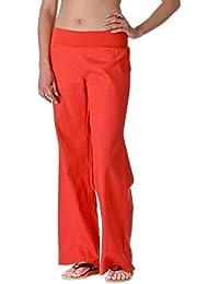 Women's Fold-Over Waist Linen Pants