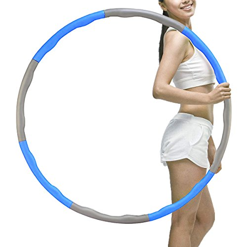 Cheap Brave Tarzan Weighted Hula Hoop for Exercise,Fat Burining,Dance-2lb,8 Section Detachable Design-2018 Professional Soft Fitness Hula Hoop Exercise Equipment Hula Hoop (Blue)