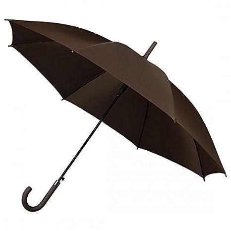 Falconetti Mujer Paraguas automático bastón, color marrón
