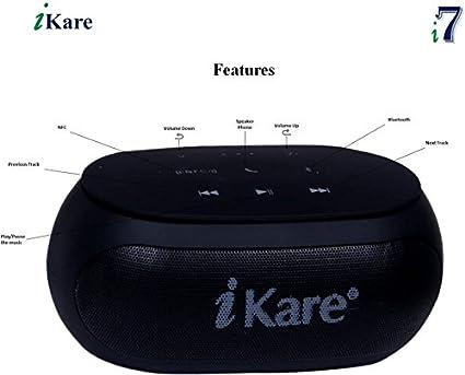 iKare i7 Wireless Bluetooth Mobile/Tablet Speaker  Black  Bluetooth Speakers