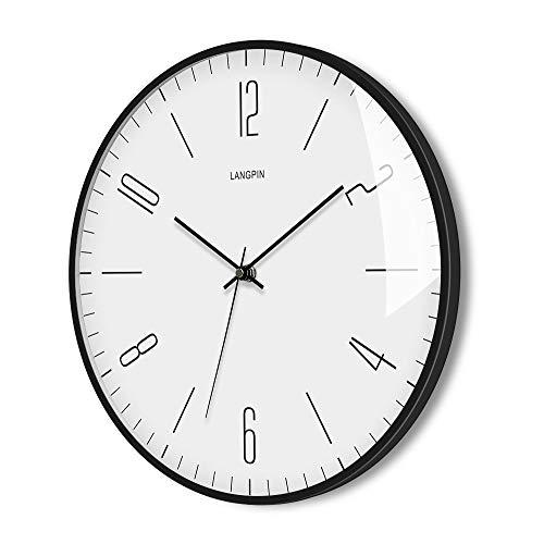 LANGPIN Silent & Non Ticking Modern Quartz Wall Clock 14'-...