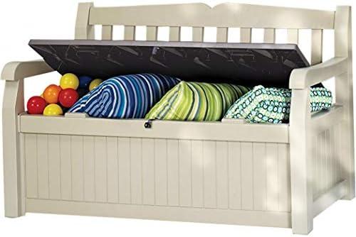 Ondis24 Eden - Banco para jardín con baúl de almacenamiento: Amazon.es: Jardín