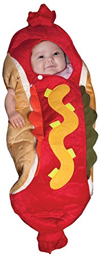 Family Halloween Costumes With Baby And Dog (Underwraps Baby's Lil' Hot Dog, Red/Multi, Infant)