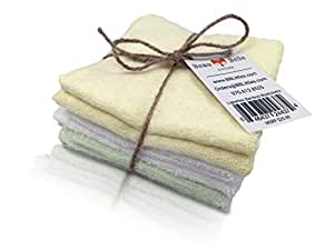 Lingettes Premium Bamboo Baby Washcloths (6-pack) By Beau & Belle Littles. Super Soft for Sensitive Skin, Perfect Baby Shower or Registry Gifts, Great for Adults Too!