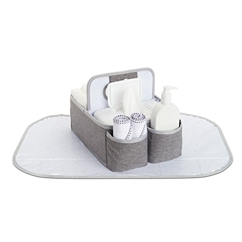 Munchkin Portable Diaper Caddy Organizer, Grey (Diaper Caddy Sarabear)