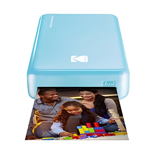 Kodak Mini 2 HD Wireless Portable Mobile Instant Photo Printer, Print Social Media Photos, Premium Quality Full Color Prints – Compatible w/iOS & Android Devices (Blue) by Kodak