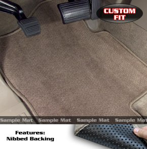 SUBARU B9 Tribeca/Tribeca Floor Mat set Carpet Custom Fit Replacement 2 pc fronts & 2nd row runner With Serged Edging & Driver Side Heel Pad Beige Fits 2006 & Above Avery's Floor Mat 2934-H (Custom B9 Subaru Tribeca Mats)