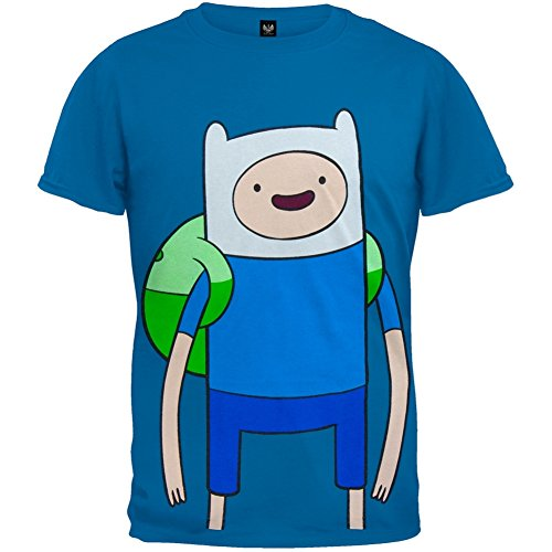 Bioworld 6-14 Adventure Time With Finn T-Shirt BLUE X-Large 12-14 (Big Youth T-shirt Time)