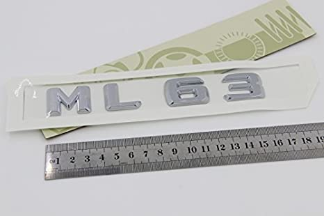 E812 Ml 63 Emblem Badge Auto Aufkleber Schriftzug Hinten Abzeichen Car Sticker Zahlziffer Chrom M 63 Auto