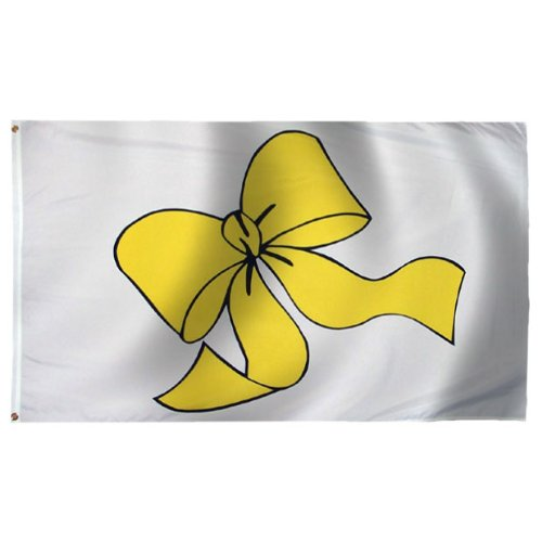Yellow Ribbon Flag 3X5 Foot Nylon