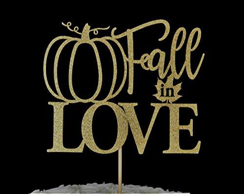 Fall in Love Gold Glitter Paper Cake (Halloween Wedding Pumpkin Cake)