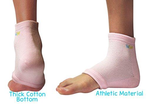 KidSole RX Gel Sports Sock for Kids with heel sensitivity from Severs Disease, Plantar Fasciitis. US Kid