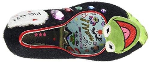 Irregular Black Heels Closed Supercouple Women's Black Toe Choice rqA6nr