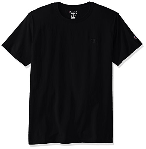 Champion Men's Classic Jersey T-Shirt, Black, L from Champion