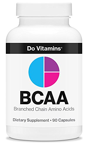 Natural Vegan BCAA Capsules by Do Vitamins - Pure Plant Based Essential Branched Chain Amino Acids Supplement for Bodybuilding Pre Workout & Post Workout Muscle Recovery, 2:1:1 2100mg 90ct