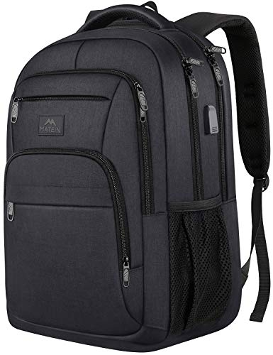 Laptop Backpack for Men, 15.6 Inch Water Resistant Padded Computer Bag with USB Charging Port for Business Travel Work…
