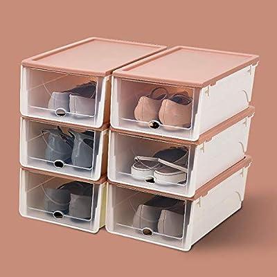 Organizador de Calzado/Zapato Gabinete de plástico gaveta de Almacenamiento Caja de Zapatos Cubierta de Espacio de Creatividad Voltear Transparente 32,5 * 22,3 * 13cm (Color : Pink): Amazon.es: Hogar