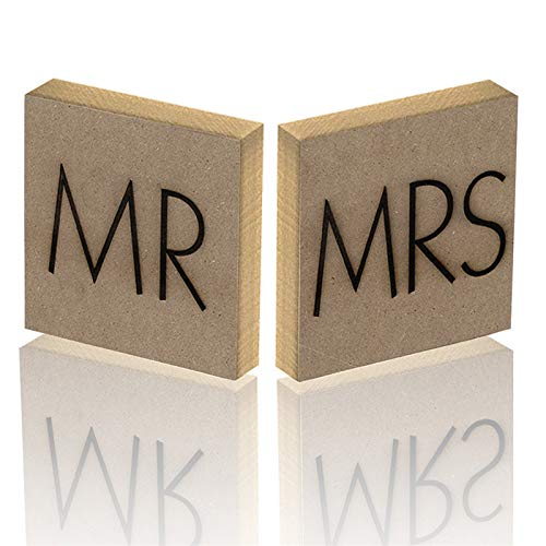 Zeagro MR & Mrs - Cartel Decorativo para Mesa de Boda ...