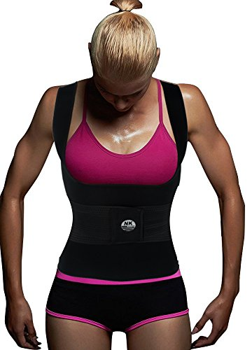 SAYFUT Neoprene Sweat Waist Trainer Vest For Weight Loss Women Slimming Shirt Body Shaper With Sauna Suit Effect