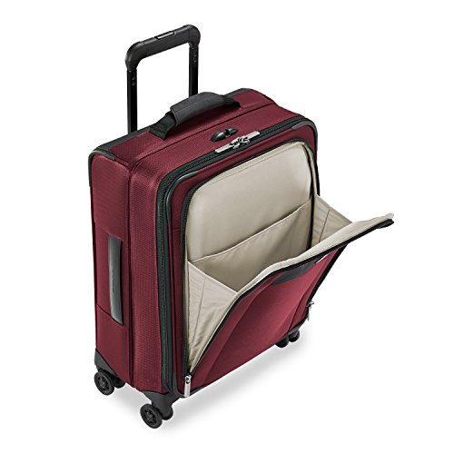 Briggs & Riley Transcend Wide Carry-on Expandable Spinner, Merlot by Briggs & Riley (Image #2)