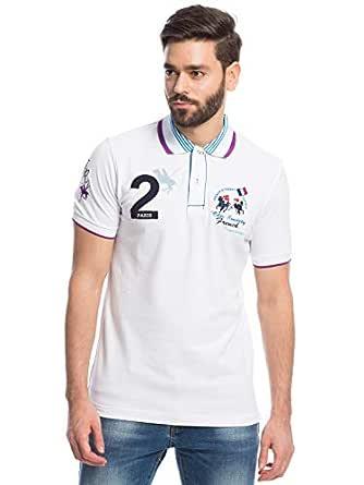 Pierre Cardin White Shirt Neck Polo For Men
