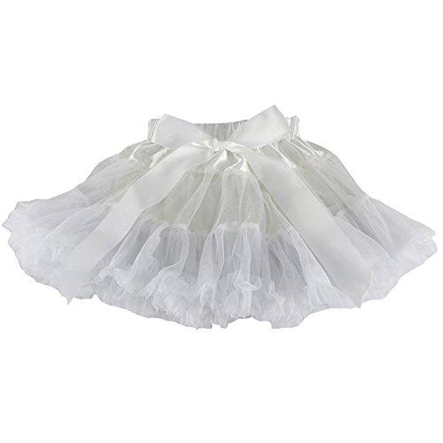 Wennikids Little Girl's Dance Chiffon Pettiskirts Tutu Assorted Size and Color Medium White -