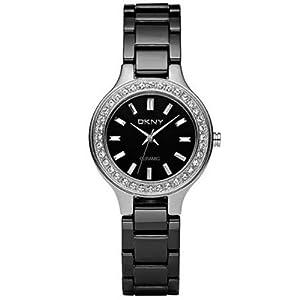 DKNY Ceramic Quartz Black Dial Women's Watch NY4980 from DKNY