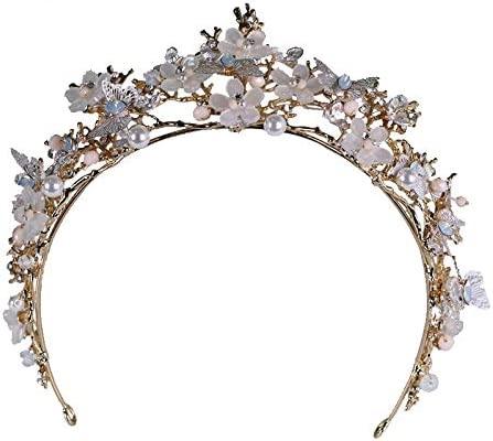 CPHGG Coronas de Princesas Corona Novia Tocado Flor Mariposa ...