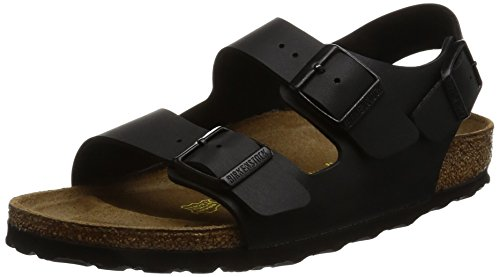 BIRKENSTOCK Milano Womens black Leather Sandals 43 EU (10-10.5 N US Men/12-12.5 N US Women) ()