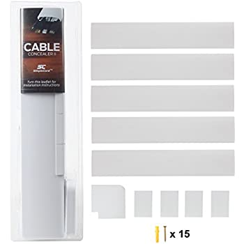 Amazoncom Cable Concealer OnWall Cord Cover Raceway Kit Cable