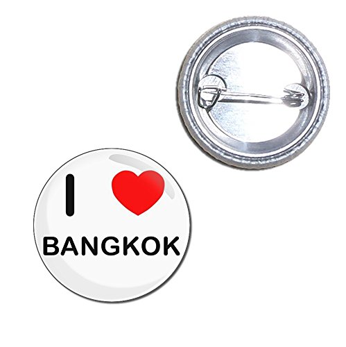 Bangkok Pin (I Love Bangkok - 25mm Button Badge)