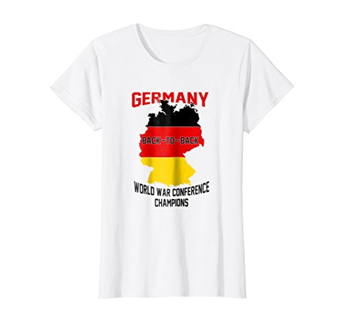 Womens Germany Back-to-Back World War Conference Champions T-Shirt Large (Conference White T-shirt)
