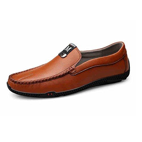 8 EU41 Conducción Zapatos Adecuado Confortable Trabajo Color CJC de T1 T1 UK7 Para Plano Negocio Mocasines Mocasines los Tamaño Formal Zapatos Casual 5 Ligero amplio hombres caminar Más ZgxZqFw6