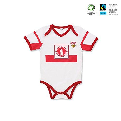 GOTS VfB Stuttgart Baby Body Muttermilch in 3 Größen verfügbar (50/56 - 74/80) VfB Fairplay Fairtrade!