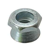 ForgeFix 10SHNT12 Tamper-Proof Cone Shear Nut Galvanised M12 Bag 10