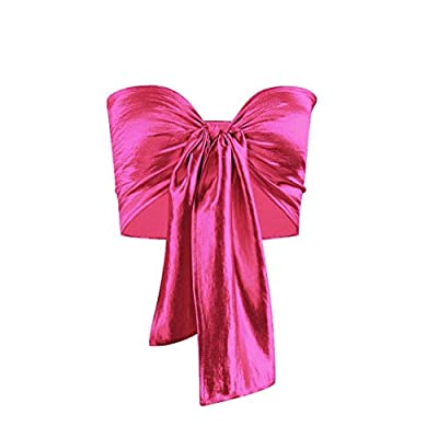 Tsmile Women Vest Summer Womens Bowknot Tube Crop Top Vest Tank Shirt Blouse Strapless Tops