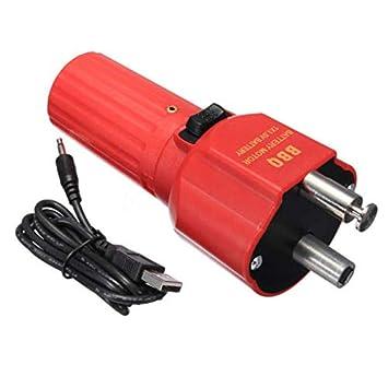 Shoppy Star - Parrilla eléctrica para Barbacoa (USB, Motor Giratorio, Rotor de asador + línea): Amazon.es: Jardín