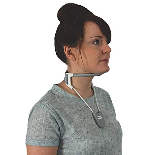 BACK Neck Brace, a revolutionary cervical collar that provides support while being breathable, cool and lightweight. Neck Pain Relief - (Silver Large) by BackPainHelp