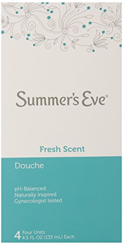 Summer's Eve Douche, Fresh Scent, PH-Balanced, Gynecologist Tested, 4-4.5 Fluid Ounce Units Per Box, 6 Boxes Total by Summer's Eve